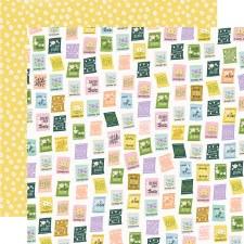 Bunnies + Blooms 12x12 Paper- Scattering Seeds