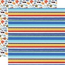 Fish are Friends 12x12 Paper- Sea Stripes