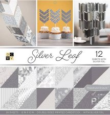 12x12 DCWV Paper Stack- Silver Leaf