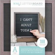 DCWV Framed Letterboard 12x12- Gray w/ Black Insert