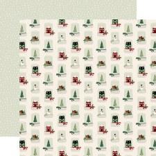A Cozy Christmas 12x12 Paper- Snow Globes