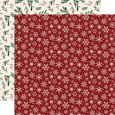 A Cozy Christmas 12x12 Paper- Snowflakes