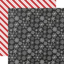 A Gingerbread Christmas 12x12 Paper- Snowflakes