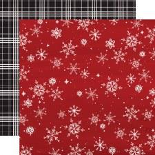 Christmas Market 12x12 Paper- Snowflakes