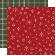 Farmhouse Christmas 12x12 Paper- Snowflakes