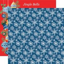 Merry Christmas 12x12 Paper- Snowflakes