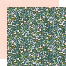 Bunnies + Blooms 12x12 Paper- So Sweet