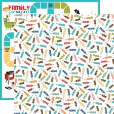 Family Night 12x12 Paper- Soda
