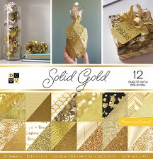12x12 DCWV Paper Stack- Solid Gold