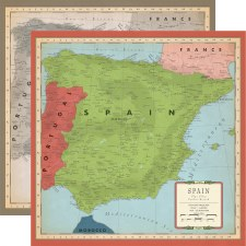 Cartography No.2 12x12 Paper- Spain