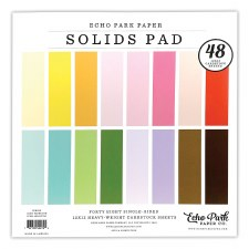 12x12 Solids Paper Pad, 48 Sheets- Spring