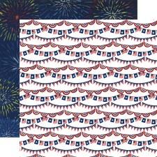 America the Beautiful 12x12 Paper- Stars & Stripes