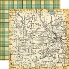 Are We There Yet? 12x12 Paper- State Map