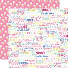 Best Summer Ever 12x12 Paper- Summer Words
