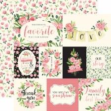 Botanical Garden 12x12 Paper- Sweet Pea Cards