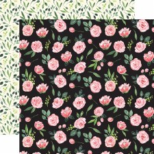 Botanical Garden 12x12 Paper- Sweat Pea Garland