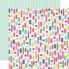 Best Summer Ever 12x12 Paper- Sweet Treats