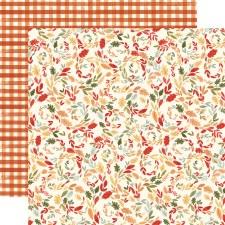 Hello Autumn 12x12 Paper- Swirly Leaves