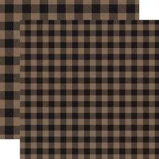 Buffalo Plaid 12x12 Paper- Tan