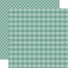 Autumn Gingham 12x12 Paper- Teal
