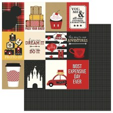 A Day at the Park 12x12 Paper- 3x4 Cards w/ Black