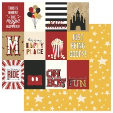 A Day at the Park 12x12 Paper- 3x4 Cards w/ Yellow Stars