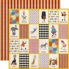Circus 12x12 Paper- Three Ring Circus