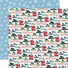 Merry Christmas 12x12 Paper- Tree Shopping