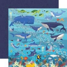 Fish are Friends 12x12 Paper- Underwater Scene