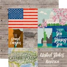 Around the World 12x12 Paper- United States