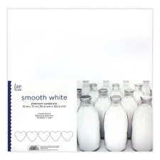 """12x12"""" Cardstock Pack, 20ct- Smooth White"""