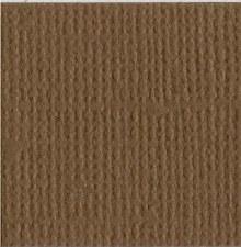 12x12 Brown Textured Cardstock- Walnut