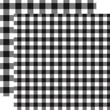 Buffalo Plaid 12x12 Paper- White