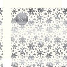 Carta Bella 12x12 Foiled Winter Wonderland Paper- White