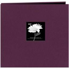 Pioneer 12x12 Post Bound Album- Fabric, Wildberry Purple