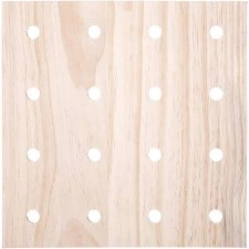 """Wooden Pegboard, 12x12"""""""