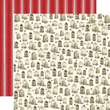 Christmas 12x12 Paper- Wooden Windows