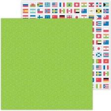 I (Heart) Travel 12x12 Paper- World Traveler