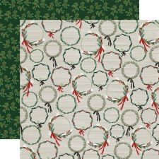 Christmas Market 12x12 Paper- Wreaths