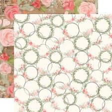 Farmhouse Market 12x12 Paper- Wreaths