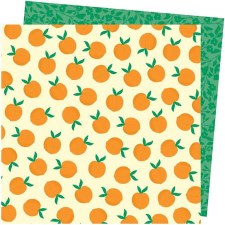 Amy Tangerine Picnic in the Park12x12 Paper- You're Peachy