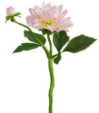"Dahlia Spray, 13.5""- Lavender/Cream"
