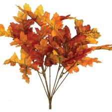 "13"" Oak Leaf Bush- Orange/Yellow"