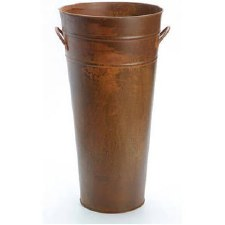 "13"" French Metal Rusty Pail"