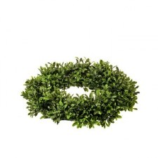 Boxwood Candle Ring, 14""