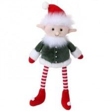 """Workshop Toy Plush Sitting Elf- 14"""""""
