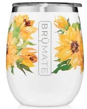 Uncork'd 14oz Wine Tumbler- Floral, Sunflower