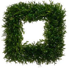 Wreath- Tea Leaf Square, 14""