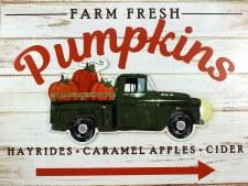 Fall Sign- Farm Fresh Pumpkin