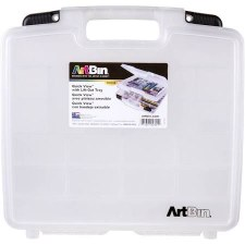 "Artbin Clear Quick View Storage Case, 15"" w/ Lift Out Tray"